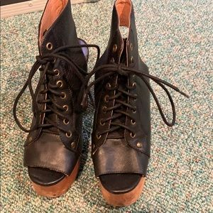 Jeffrey Campbell Open Toe Blocked Shoes